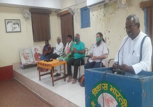 IGNCA की तीन सदस्यीय टीम पहुंची विकास भारती विशुनपुर, जनजातीय म्युजियम के निर्माण पर हुई चर्चा